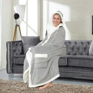 Soft hooded wrap